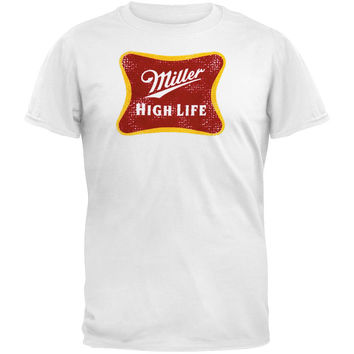 Miller - High Life Distressed Logo White T-Shirt