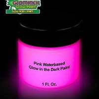 Glominex AD391 Glow Body Paint 1oz Jar - Pink