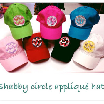 Monogrammed Baseball Hat with Fabric Applique- Great for Graduation Gifts or Spring Break Personalized