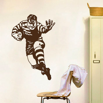 Wall Decals Sport  American Football Footballer Athlete Player Sports Game Sportsman Sporting Event Home Decor Vinyl Decal Sticker  ML126