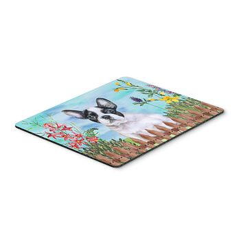 French Bulldog Black White Spring Mouse Pad, Hot Pad or Trivet CK1272MP