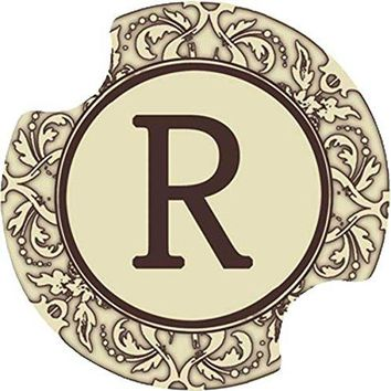 Thirstystone Monogram R Car Cup Holder Coaster 2Pack