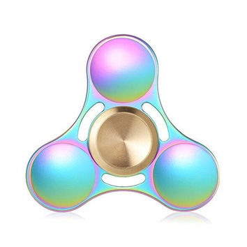 Fidget Spinner edc toy Made of Titanium Alloy Ceramic Bearing 3+ Minutes Spinning Time High-Speed EDC Focus edc toy for Killing Time Electroplated