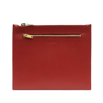 Saint Laurent Classic Leather Document Holder 315872, Lipstick Red