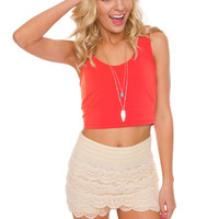 Its Britney Crop Top in Coral