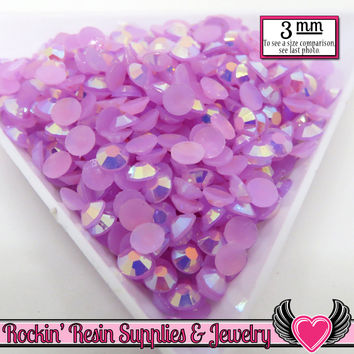3mm 300 pcs AB Lavender Jelly RHINESTONES