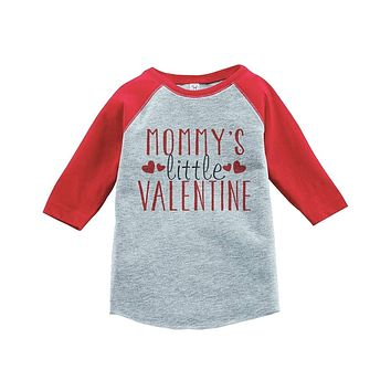 Custom Party Shop Boy's Mommy's Little Valentine Toddler Vintage Baseball Tee
