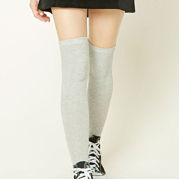 Cable Knit Over-The-Knee Socks