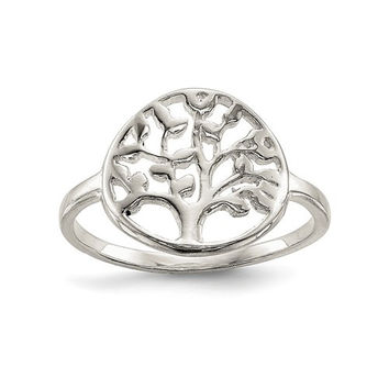 Sterling Silver Tree of Life Circle Ring