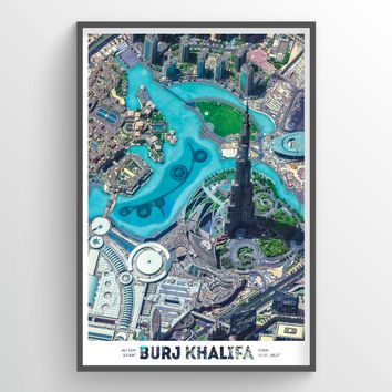 Burj Khalifa Earth Photography - Art Print