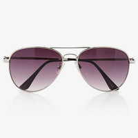 Silver Aviator Sunglasses from EXPRESS