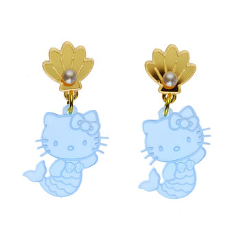 Hello Kitty Mermaid Dangle Earrings