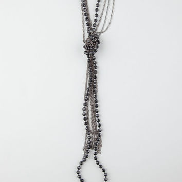 Full Tilt Beaded Knot Necklace Hematite One Size For Women 26448518901