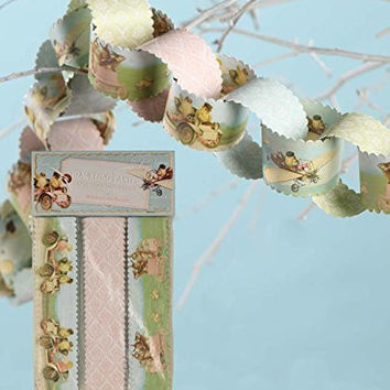 BETHANY LOWE Vintage Inspired Traveling Easter Paper Chain Garland Kit