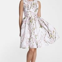 Dolce&Gabbana Print Silk Organza Fit & Flare Dress