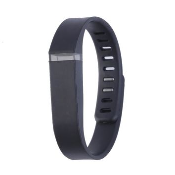 Large Size Replacement Wrist Band Bracelet for FITBIT FLEX Tracker w/Clasps Color Black