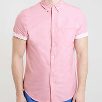 Pink contrast Sleeve shirt - Men's Shirts - Clothing