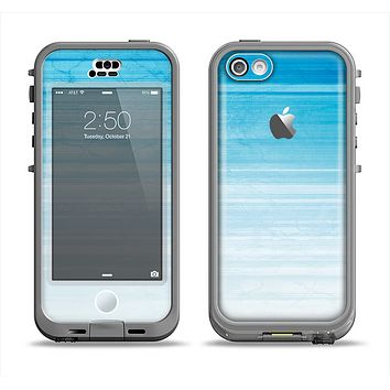 The Fading Light Blue Streaks Apple iPhone 5c LifeProof Nuud Case Skin Set