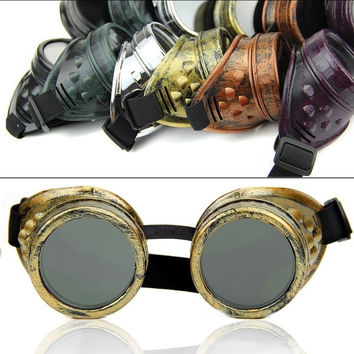 Gothic Vintage Victorian Steampunk Goggles Welding Punk Cosplay Glasses Truman = 1946685060
