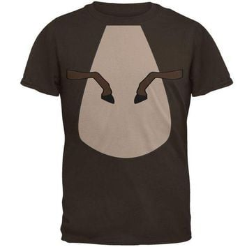 DCCKJY1 Halloween Horse Costume Brown Pony Mens T Shirt