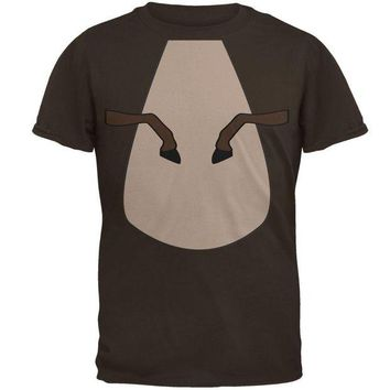 LMFCY8 Halloween Horse Costume Brown Pony Mens T Shirt