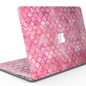 Pink Watercolor Quatrefoil - MacBook Air Skin Kit