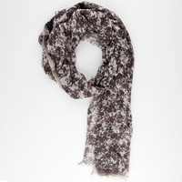 Floral/Lace/Plaid Scarf Black Combo One Size For Women 25621614901