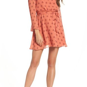BB Dakota Tabitha Medallion Print Blouson Dress | Nordstrom