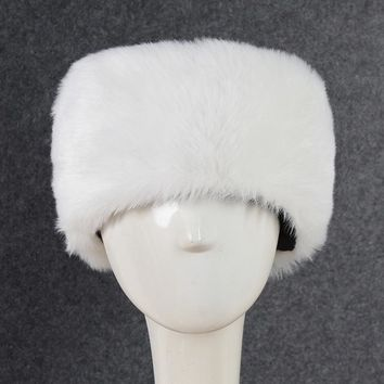 Sports Hat Cap trendy  Fashion Men Women Faux Fur Hat Winter Warm Thicken Furry 'S Hat Ear Protector Sports Ski Outdoor Snow Cap Beanie Bonnet KO_16_1