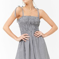 Smocked Gingham Dress