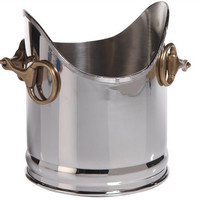Equestrian Wine Cooler with Horse Bit Handles