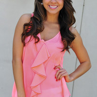 The Brightest Girl Blouse: Neon Pink | Hope's