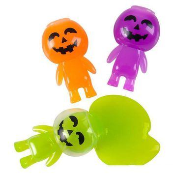 "3.25"" halloween jack o lantern slime Case of 144"