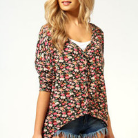 Sophia Ditsy Floral Jersey Cardigan