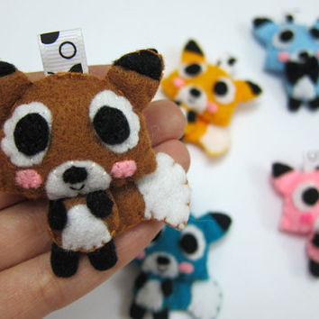 Cute Fox Keychain, Ornament, Magnet - Fayne, Fairley, Felix