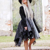 Sale Stevie Nicks Rhiannon Gypsy Kimono Duster, gypsy wanderlust jacket, festival clothing, True rebel clothing