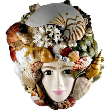 Under The Sea Seashell Queen Collectible Art Mask