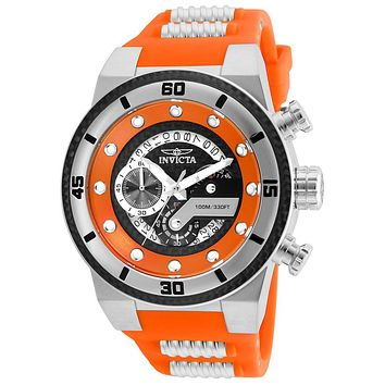 INVICTA S1 Rally Mens Chronograph - Black & Orange - Stainless - Silicone Strap