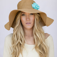 Oversized Floppy Sunhat Natural Sun Hat with Mint Flower Milliner Derby Women's Fashion Beach Cap Summer Shade Hat Oversized Brim Brown