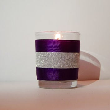 Purple Wedding Favors - Puple Wedding Decor - Party Favor - Purple Candles - Set of 10