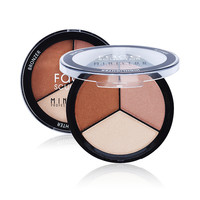 Brand Make Up 3 Colors Face Pressed Powder Palette Makeup Contour Kit Concealer Highlight & Bronzer Powder Cosmetics
