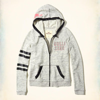 Girls Stripe Logo Graphic Hoodie | Girls Tops | HollisterCo.com