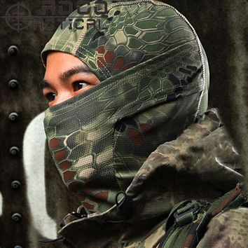 Breathable Chiefs Rattlesnake Camo Tactical Mask Airsoft Paintball Full Face Mask Motorcycle Cycling Hunting CS Balaclava helmet