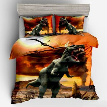 DeMissir 29 Kinds 3D Dinosaur Cartoon Children Duvet Cover Set 2/3Pcs Set Twin Full Queen King Bedding Sets housse de couette