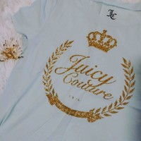Women's Juicy Couture Baby Blue Tee: NEW