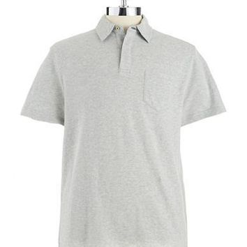 Black Brown 1826 Heathered Polo Style Shirt