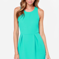 Let's Go Party Turquoise Dress