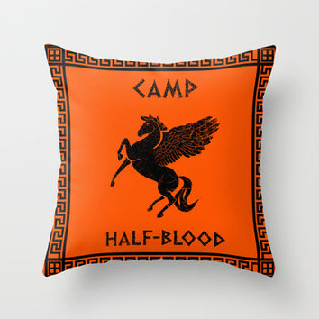 Camp Half-Blood Throw Pillow by Nana Leonti | Society6