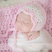 Crochet Pattern for Chevron Pixie Bonnet Hat - 4 sizes, baby to child - Welcome to sell finished items