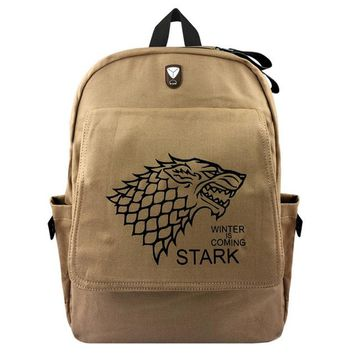 Anime Backpack School New Game of Thrones Backpack Student School Bags Boobkag Satchel Cosplay kawaii cute Canvas Backpacks Rucksack Casual Travel Bag AT_60_4